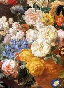 Bouquet of Flowers in a Sculpted Vase (detail) f